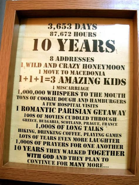 17  best images about 10 Year Wedding Anniversary