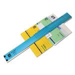 Plastic Indexed Sorter, 31 Dividers, Alpha/Numeric/Months/Dates/Days, Letter-Size, Blue Frame