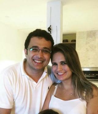 Yglésio Moyses e a esposa Juliana