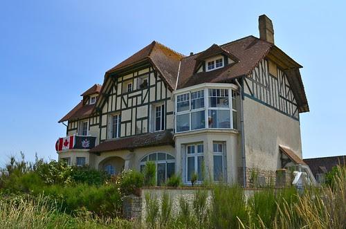 The first house liberated by Canadians on D-Day, Bernieres, France