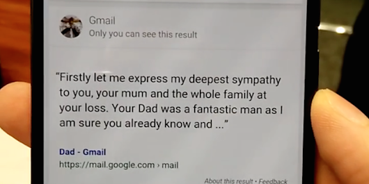 Google shocked this man by offering sympathy on the death of his father