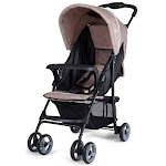 5-Point Safety System Foldable Lightweight Baby Stroller-Coffee