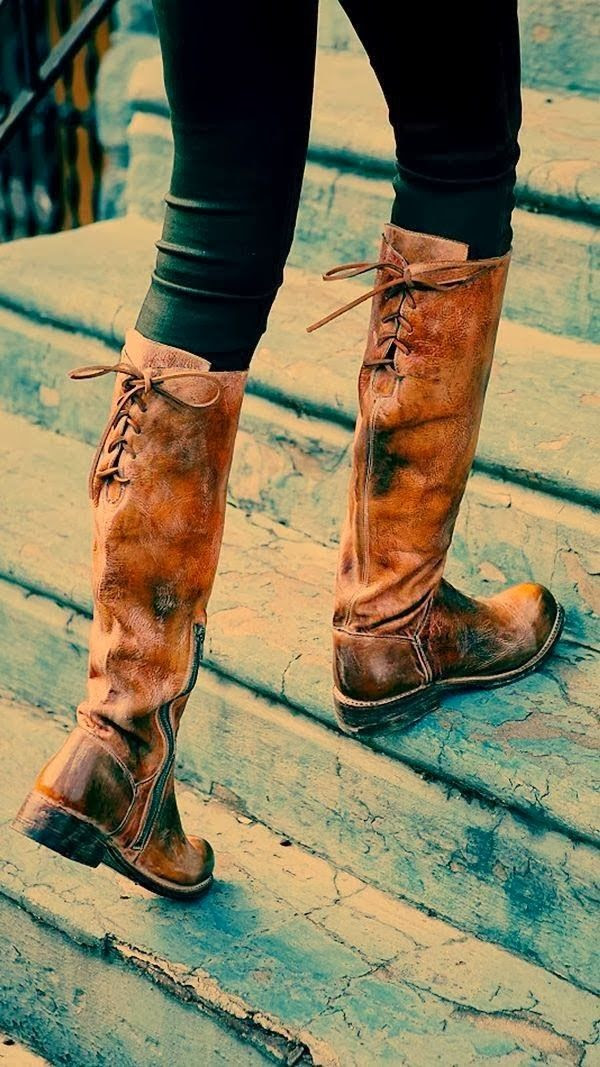 Gorgeous Manchester distressed leather long boots