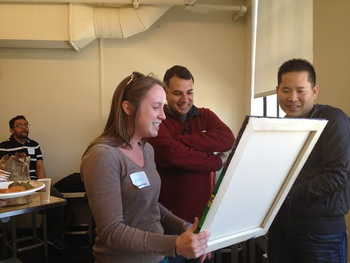 Anna accepts the painting