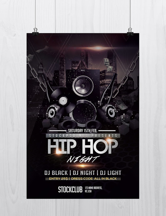 Hip Hop Music - Download Free PSD Flyer Template - Stockpsd.net - Free PSD Flyers, Brochures and more