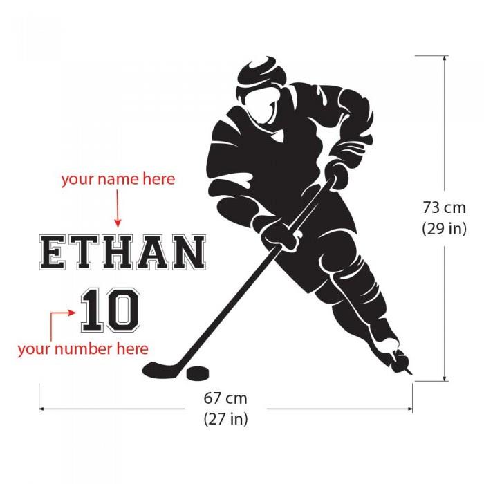 Eishockeyspieler Wandtattoo Zum Selbst Gestalten