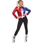 Harley Quinn Adult Costume Kit - 53034 - Blue/Red /White - Medium