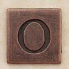 Copper Square Letter O