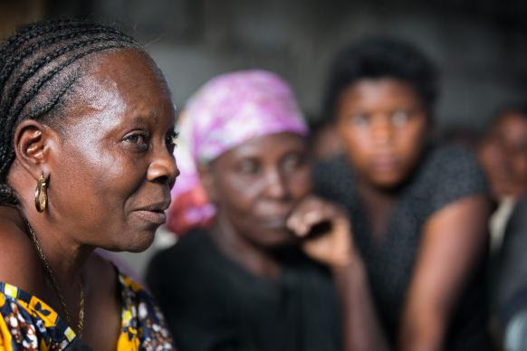 Josephine Efulantu (left) from Office United Methodist Church in Goma, Democratic Republic of Congo, works with women who have been abandoned, raped or widowed during their country's civil war.