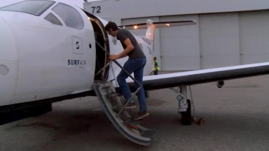 The man who takes a plane to work every day