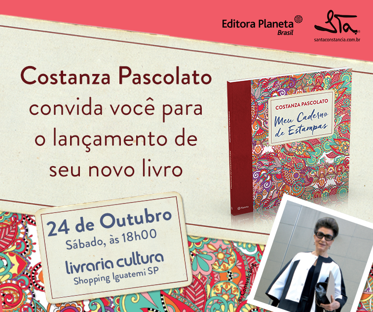 Convite virtual Meu Caderno de Estampas