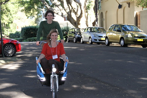 the Watershed cargo bikes at Live Futures 2020