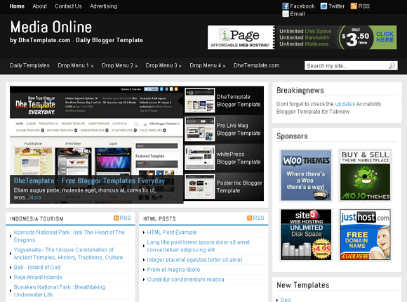 media online blogger template 25+ Best Free Magazine Blogger Templates for 2013 Download