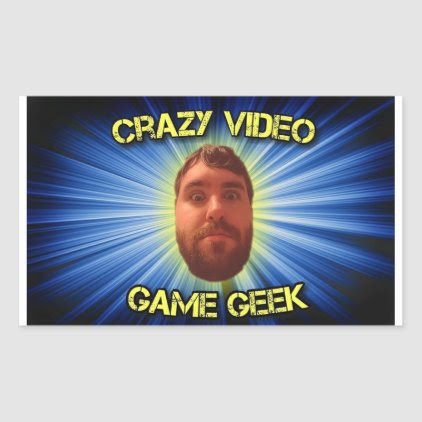 Crazy Video Game Geek Thumbnail Sticker