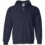 Gildan Heavy Blend Full-Zip Hooded Sweatshirt-Navy-XL
