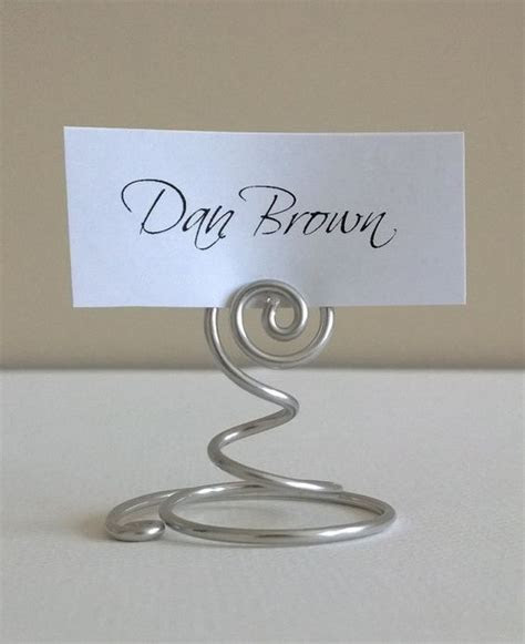 Mini Spiral Swirl Card Holders / Place Card Holders