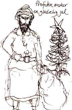 Profeten ønsker en gladelig jul