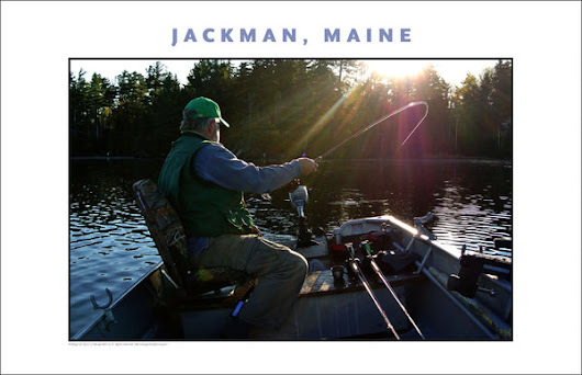 Fisherman Hero, Jackman, Maine, Place Photo Poster Wall Art Collection #445 – Gallery Delany