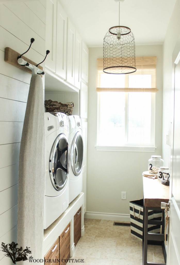 Laundry Room at The  Wood Grain Cottage