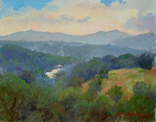 Biltmore Afternoon looking West (2015) Oil painting by Richard  Nelson