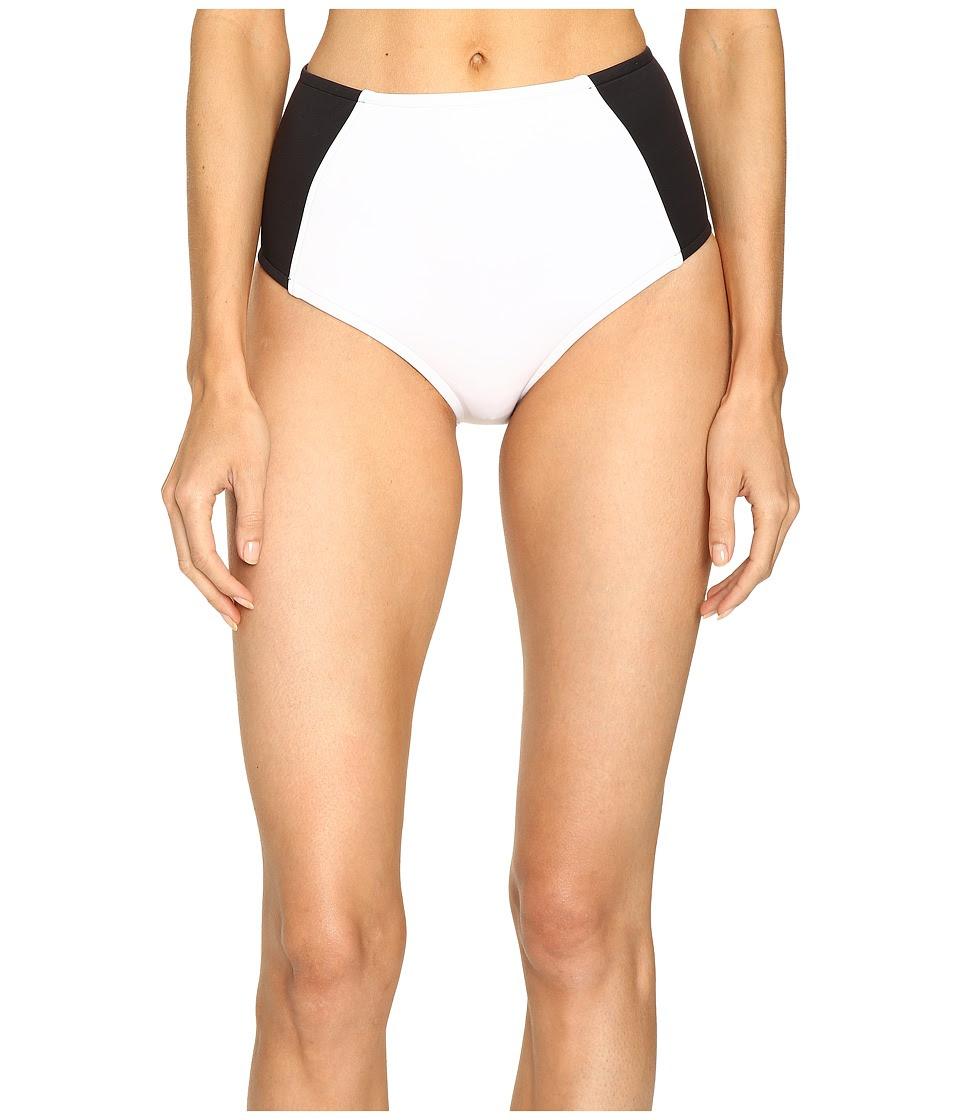 Stella McCartney - Stella Iconic High Waist Pant (Black\/Stone\/White) Women's Swimwear