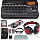 Tascam DP-008EX 8-Track Digital Pocket Studio Along with Samson Studio Headphones and Deluxe Bundle