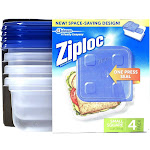 Ziploc Container with One Press Seal - 4 count