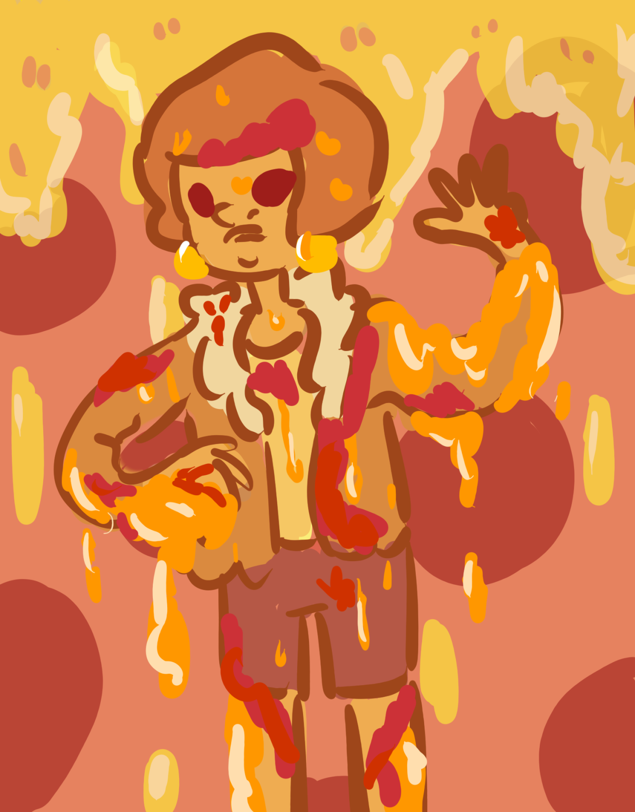 ugh im gonna smell like pizza