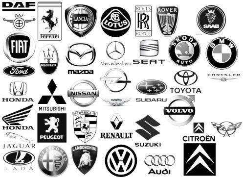 Locations de vehicule, voitures: Tout les logo de voiture