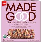 MadeGood Chocolate Dipped Granola Bar Birthday Cake - 4.2oz