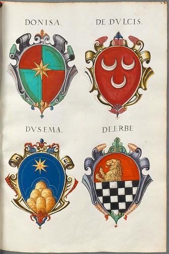 Familienwappen kleinerer Adelshäuser von Verona mit Buchstaben e