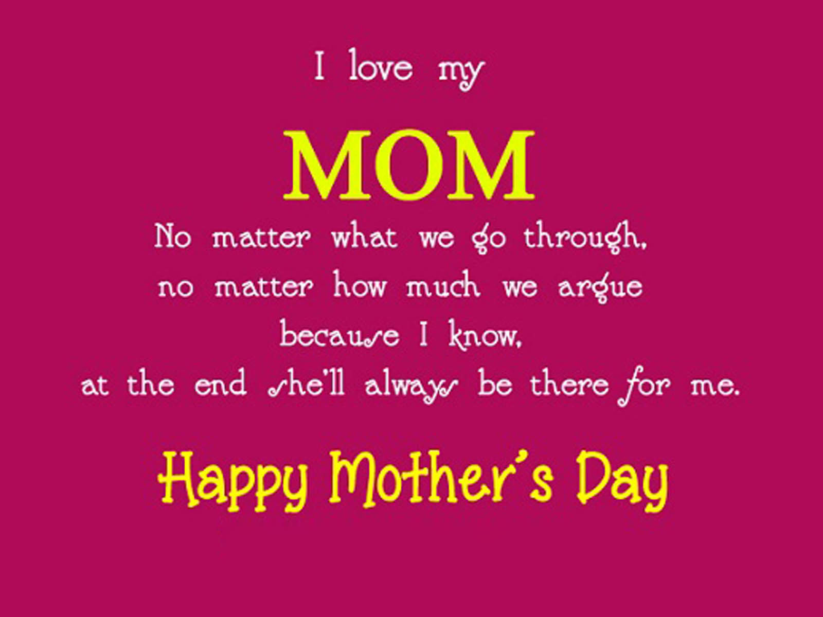 I Love My Mom Happy Mothers Day Pictures Photos And Images For