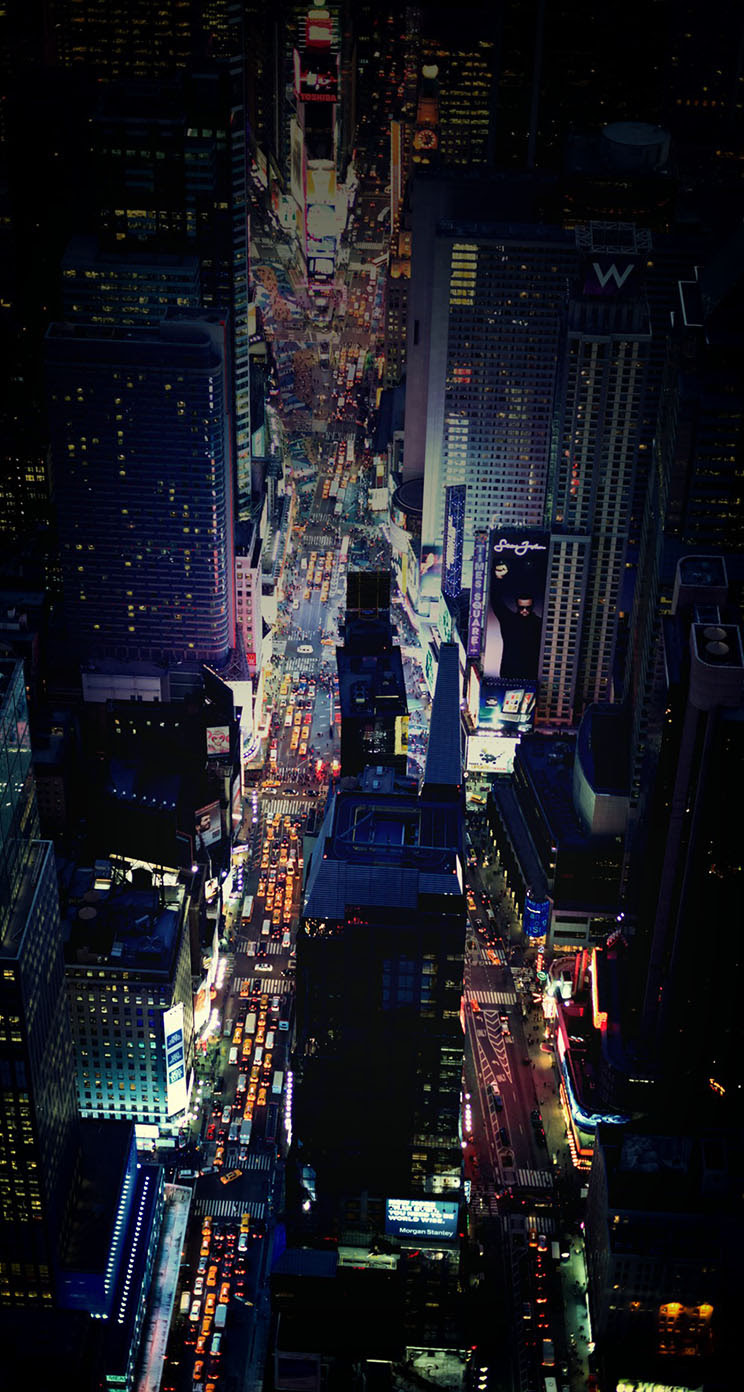 The Iphone Wallpapers Times Square Night