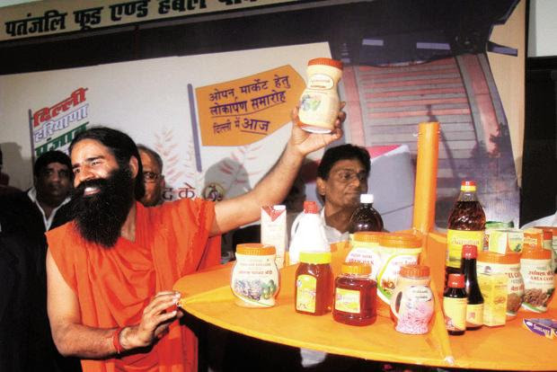 The biggest new competitor is yoga guru Baba Ramdev's Patanjali Ayurved Ltd, which offers some 500 products spanning food, nutrition, and beauty and personal care. Photo: Hindustan Times