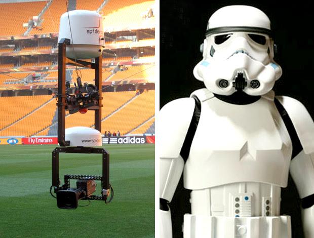 Spider cam foi inspirada no filme Star Wars