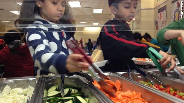 """Una escuela de Nueva York  """"se hace"""" vegetariana"""