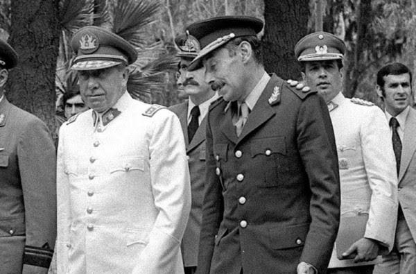 Pinochet e Videla
