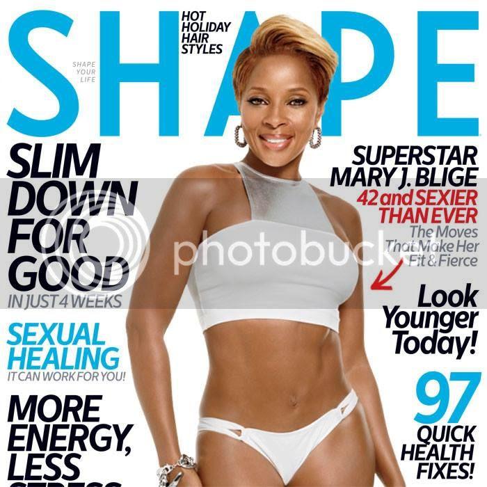 A toned up Mary J. Blige covers 'Shape' magazine...