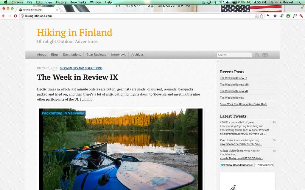 hikinginfinland.com now runs on Octopress!
