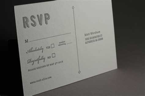 M&A RSVP card   Worth Higgins