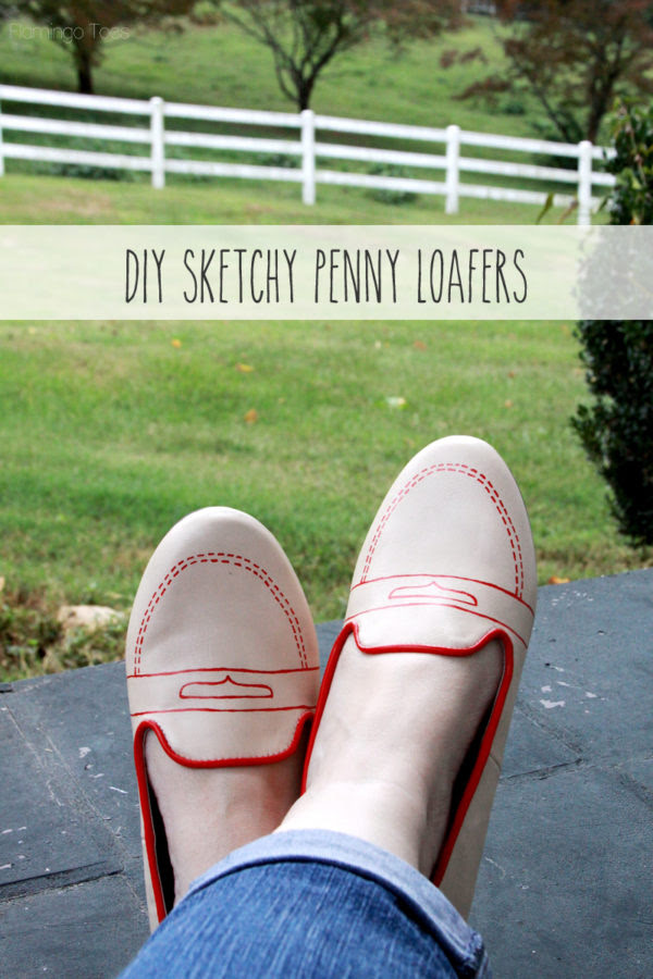 DIY Sketchy Penny Loafers