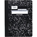 Mead Square Deal - Composition book - sewn-bound - 7.52 in x 9.76 in - 100 sheets / 200 pages - white paper - ruled - black