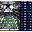 2012 Dallas Cowboys Football Schedule | NFL Preview-Prediction | Monday-Sunday-Night Football Schedule