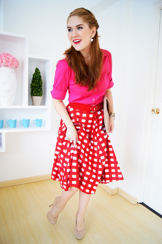 Red & Pink by The Joy of Fashion (1)