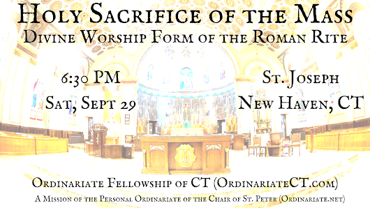 A Divine Worship Mass to be celebrated in New Haven, Connecticut Sept. 29