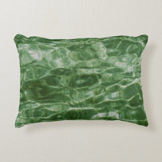 Abstract Green Water Accent Pillow