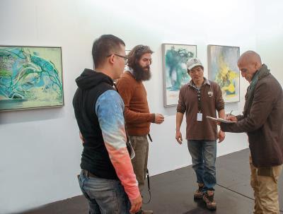 近年,黃承遠的作品頻頻在國際展覽亮相,他融合西方繪畫技巧與東方水墨的作品風格,為歐美民眾帶來嶄新的觀畫經驗。