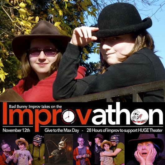 The HUGE Improv Theater Improvathon is almost over... 2 hours left!