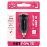 Getpower Gp-dcusb-blk Single Usb To Dc Car Adapter, Black, 1.5 Amp
