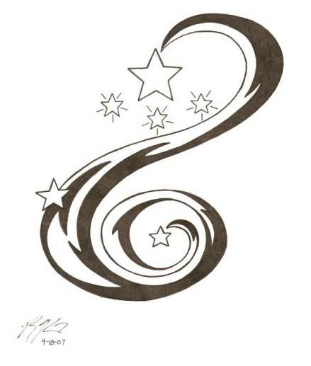 Star Tattoo Stencil